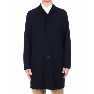 Cappotto impermeabile blu scuro