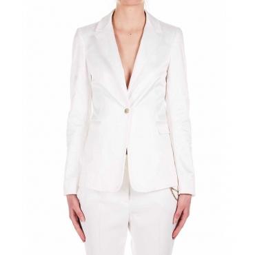 Blazer lunga luxury bianco