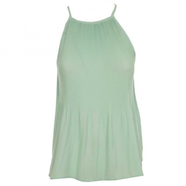 Top in pliss GREEN GOSSAM