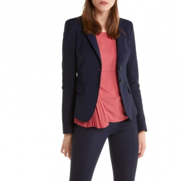 Giacca slim a due bottoni C789NAVY