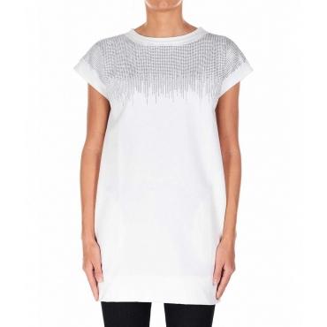 Mini abito con strass bianco