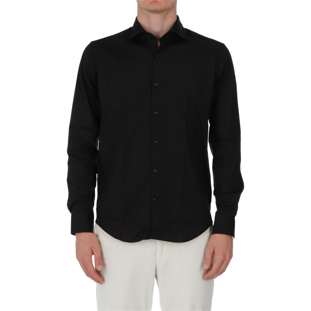 CAMICIA COLIN SLIM NO WASH BARBATI NERO