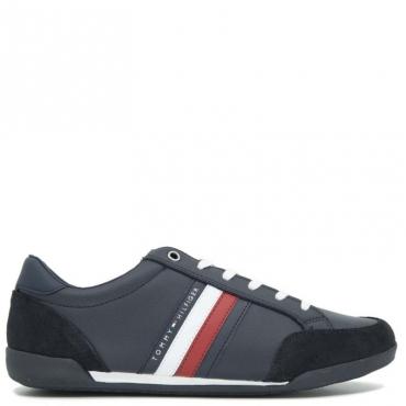 Sneakers bianca con dettagli scamosciati DESERT SKY
