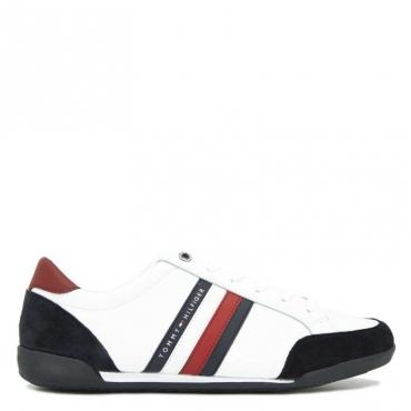 Sneakers bianca con dettagli scamosciati WHITE
