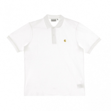 POLO MANICA CORTA CHASE PIQUE POLO WHITE/GOLD