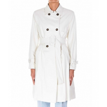 Trench in ecopelle bianco