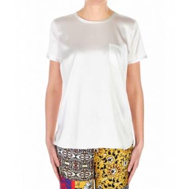 T-Shirt in seta bianco