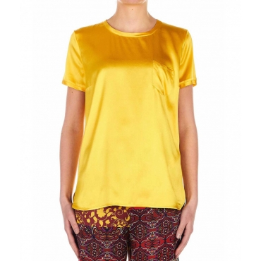 T-Shirt in seta giallo