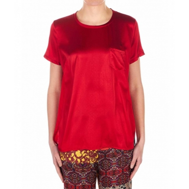 T-Shirt in seta rosso
