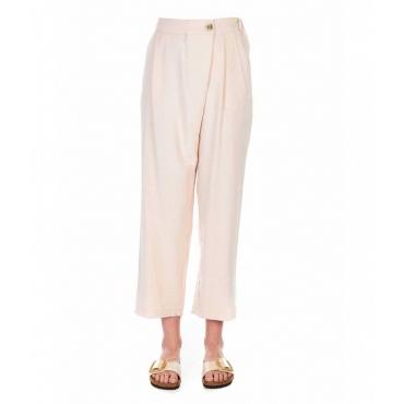 Pantalone casual rosa antico