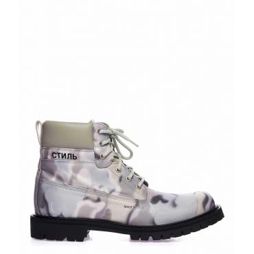 Boots con fantasia grigio chiaro