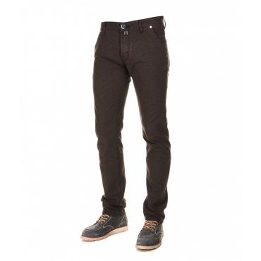 Chino-style jeans marrone scuro