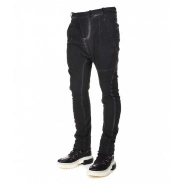 Pantalone casual in pique di cotone grigio scuro