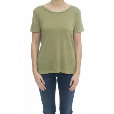 T-shirt donna - Paciana t-shirt lino 52013 - Salvia