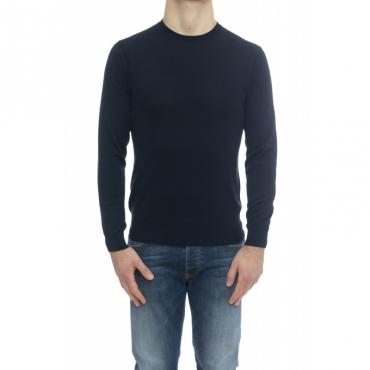 Maglia uomo - 9004/01 maglia seta cotone 38 - Blu