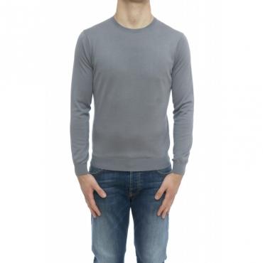 Maglia uomo - 9004/01 maglia seta cotone 22 - Grigio