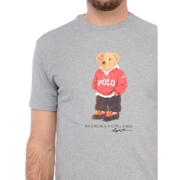 Ralph Lauren T Shirt Manica Corta Uomo Grigio