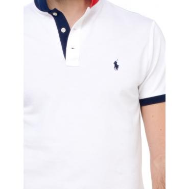 Ralph Lauren Polo Manica Corta Uomo Bianco