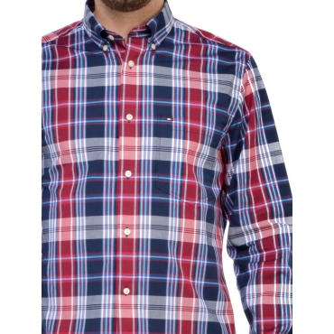 Tommy Hilfiger Camicia Uomo Rosso