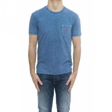 T-shirt - 795137 t-shirt lavata taschino AZZURRO