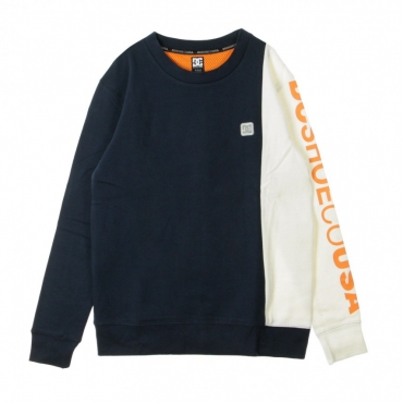 FELPA GIROCOLLO WEPMA CREW NAVY/ORANGE