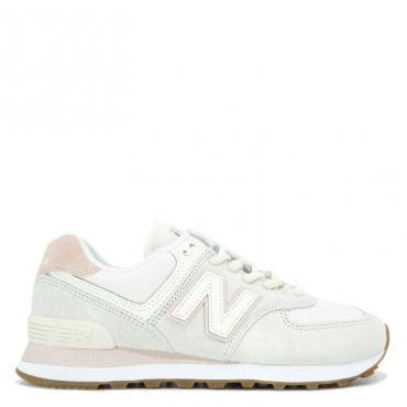 Sneakers WL574SAY beige e rosa OFFWHITE