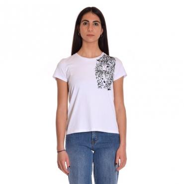 T-shirt manica corta ghepardo BIANCO