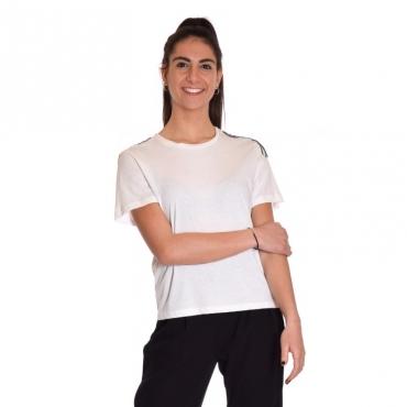 T-shirt applicazione spalla BIANCO