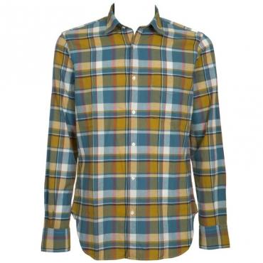 Camicia morbida a quadri multicolor 14137SCOZZES