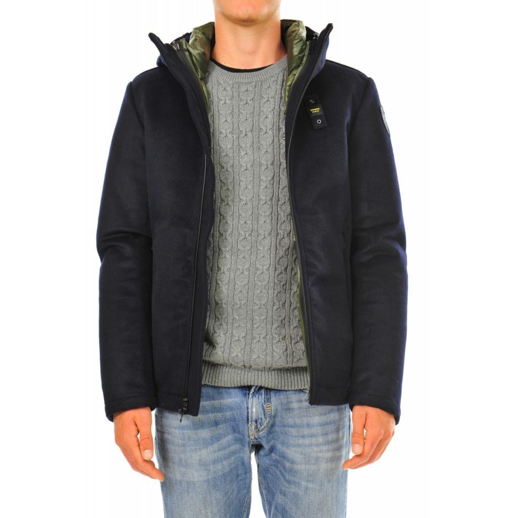 Blauer Jacket Man Wool Filled Inside Feather 888 BLUE