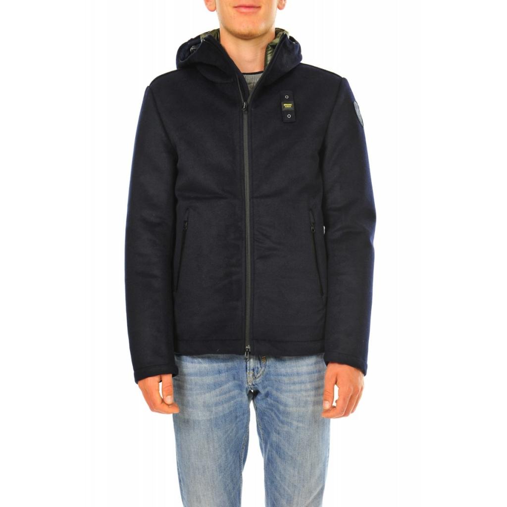 Blauer Jacket Man Lana Cotta Interne Feder 888 BLUE