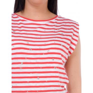 Silvian Heach T Shirt Manica Corta Donna Rosa