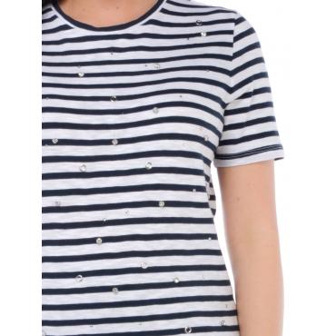 Silvian Heach T Shirt Manica Corta Donna Blu
