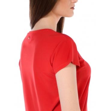 Silvian Heach T Shirt Manica Corta Donna Rosso