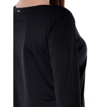 Silvian Heach T Shirt Manica Lunga Donna Nero
