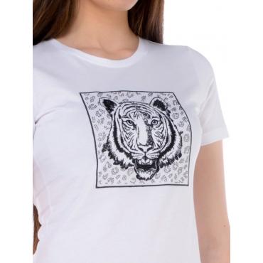 Silvian Heach T Shirt Manica Corta Donna Bianco