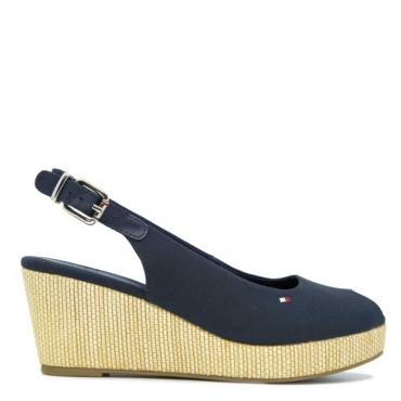 Sandalo con zeppa sling back wedge BLU