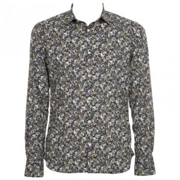 Camicia con stampa floreale in cotone UNI