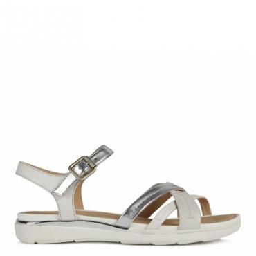 Sandalo Hiver con fasce incrociate C0434SILVER/
