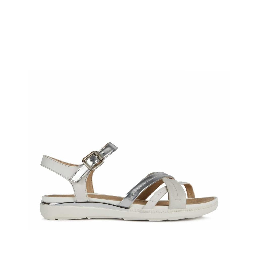 GEOX Sandalo Hiver con fasce incrociate C0434SILVER Scarpe |Bo