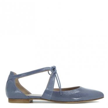 Sandalo Giselle azzurro cielo con laccio