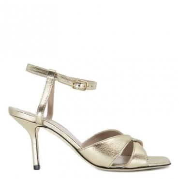 Sandalo con tacco Valeria metallizzato RIO