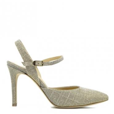 Sandalo in lurex oro laminato NUDE