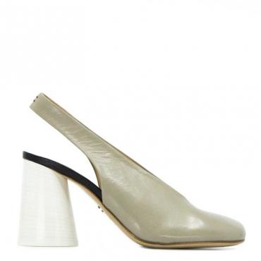 Sandalo Oriett con tacco conico STONE/NERO/B