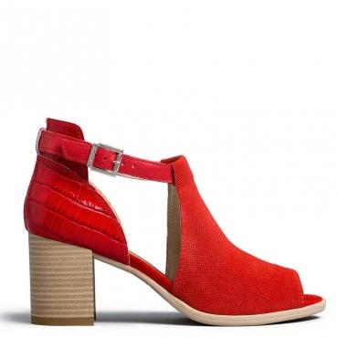 Sandalo Velour con tallone effetto coccodrillo 600