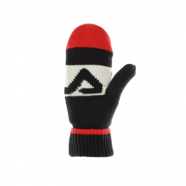 GUANTI INTARSIA KNITTED MITTENS BLACK IRIS/TRUE RED/BRIGHT WHITE