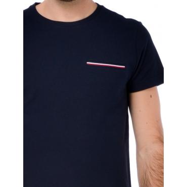 Tommy Hilfiger T Shirt Manica Corta Uomo Blu
