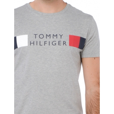Tommy Hilfiger T Shirt Manica Corta Uomo Grigio