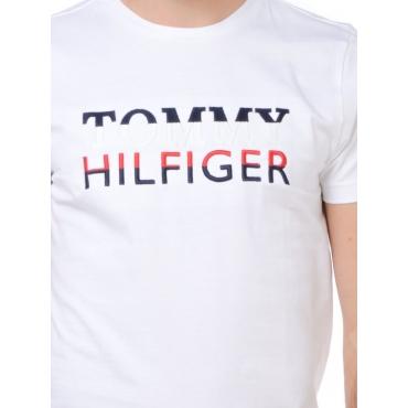 Tommy Hilfiger T Shirt Manica Corta Uomo Bianco