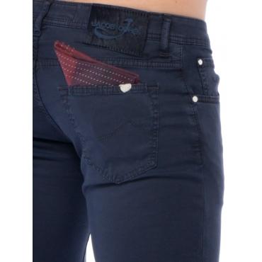 Jacob Cohen Pantalone 5 Tasche Uomo Blu